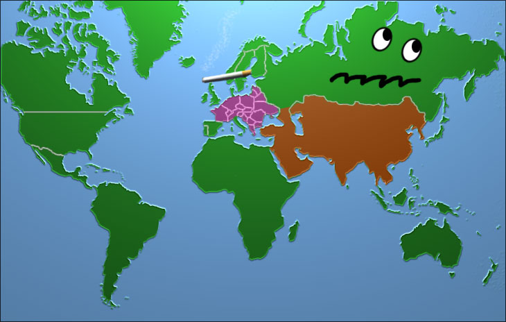 world map funny
